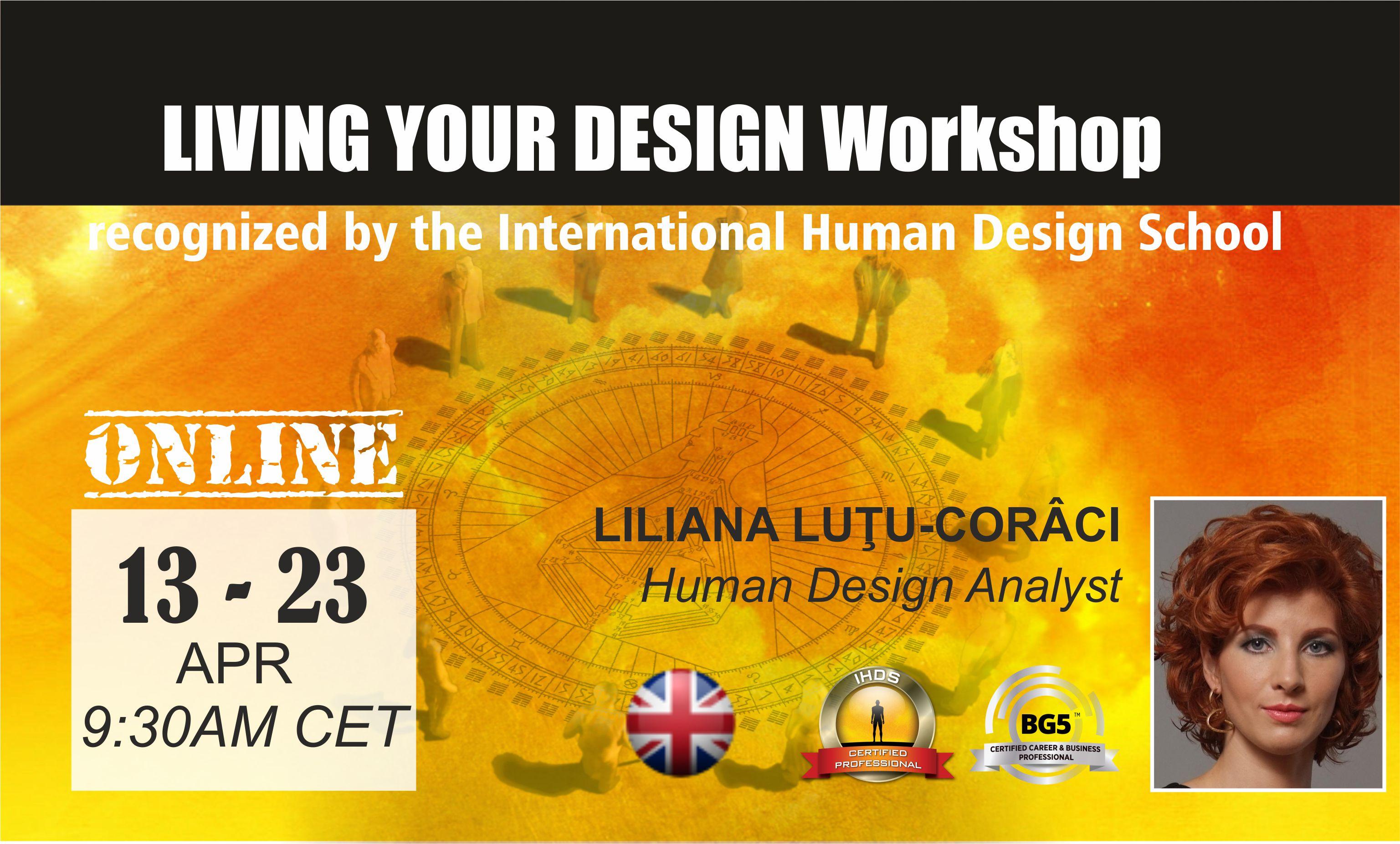 Workshop Human Design Living Your Design LYD2EN
