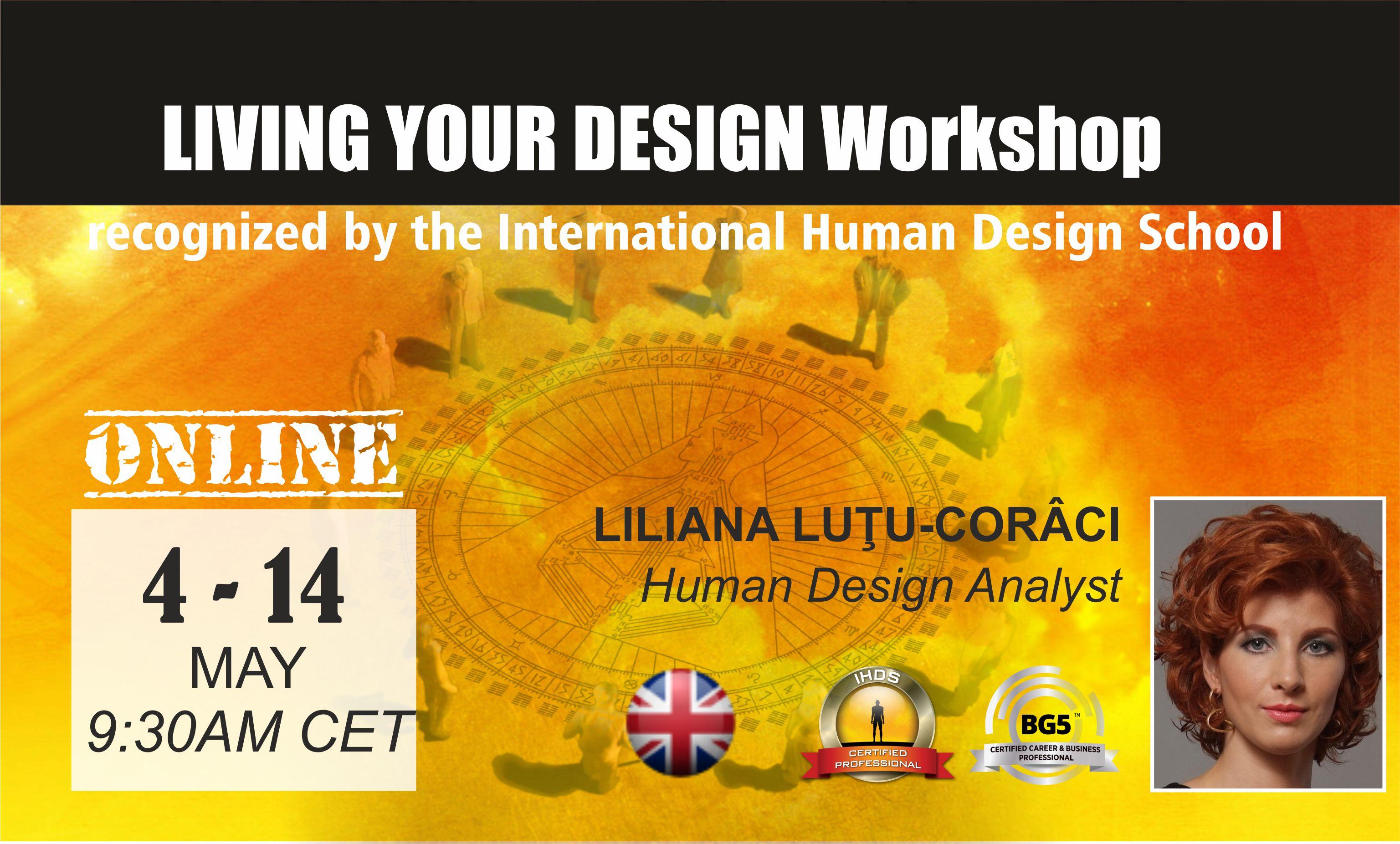 Workshop Human Design Living Your Design LYD4EN